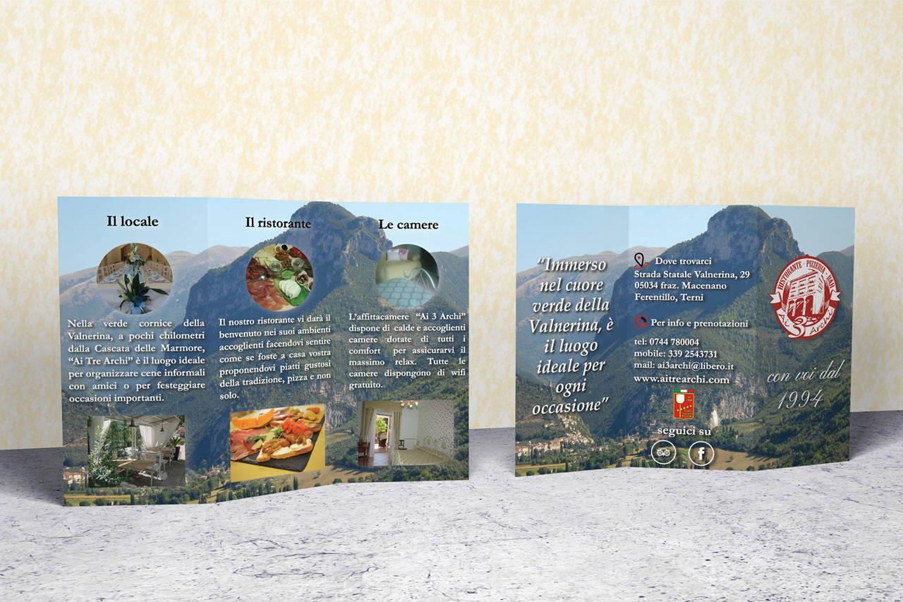 """Brochure ristorante """"Ai tre archi"""""""